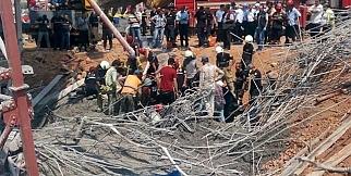 İzmir'de Viyadük İnşaatında Kaza