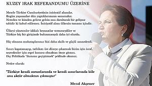 Meral Akşener'den Referandum Mesajı!