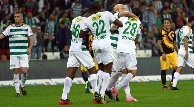 Bursaspor 10 Kişiyle Osmanlıspor'u Yendi