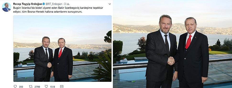 İzzetbegoviç İstanbul'da Erdoğan'ı Ziyaret Etti