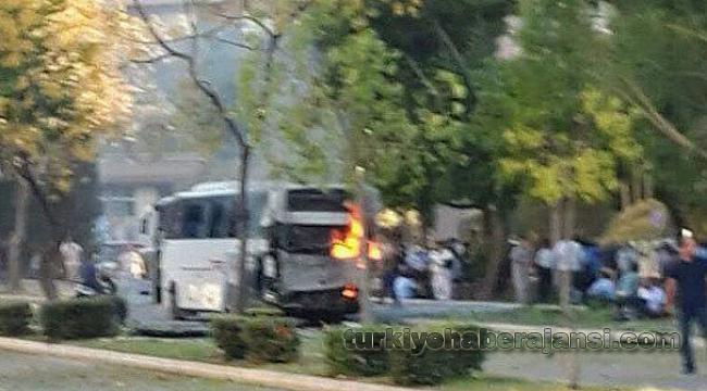 Polis Servis Aracına Bombalı Saldırı!
