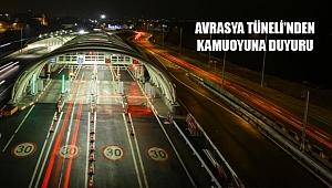 Avrasya Tüneli Yönetiminden 'CEZA' Açıklaması