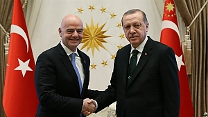 Erdoğan, FIFA Başkanı Infantino'yu Kabul Etti
