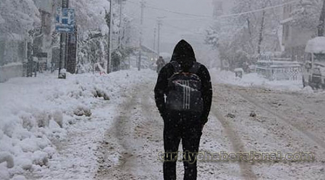 Kar Yağışı Nedeniyle Yarın Okullar Tatil Edildi