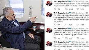 Başbakan Yıldırım'dan Afrin Tweetleri
