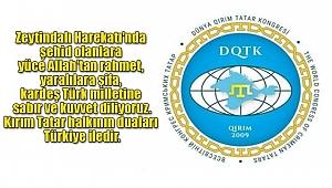 Dünya Kırım Tatar Kongresi'nden Afrin'e Destek