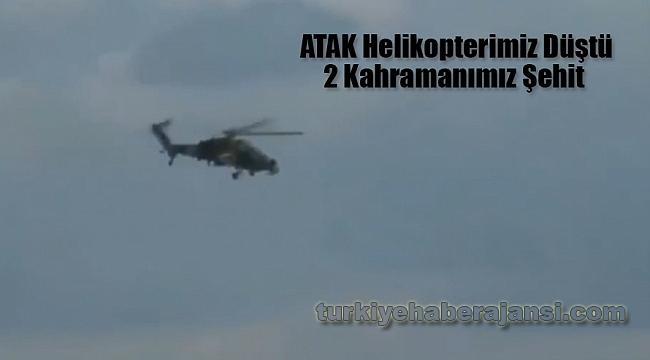 Atak Helikopterimiz Afrin'de Düştü… Şehitlerimiz Var…