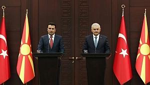 Başbakan Yıldırım ve Zaev Ortak Basın Açıklaması Yaptılar