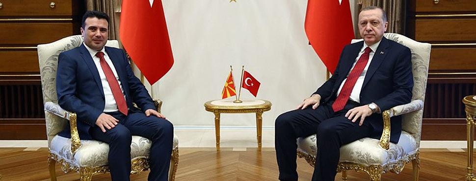 Cumhurbaşkanı Erdoğan Zaev'i Kabul Etti
