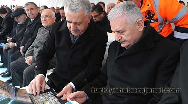 Yıldırım, Ankara-Niğde Otoyolu Temel Atma Töreni'ne Katıldı