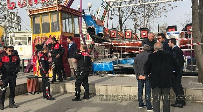 Ankara'da Lunaparkta Korku Dolu Anlar