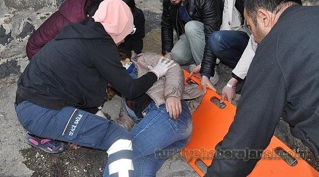 Kars Kalesi'nden Düşen Üniversiteli Kız Yaralandı