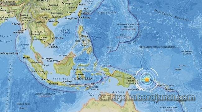 Papua Yeni Gine'de 6.3'lük Deprem