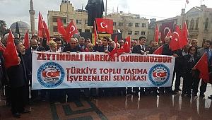 TTİŞVEREN Sendikası'ndan Kilis'te Zeytin Dalı Harekatı'na Destek Eylemi