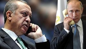 Erdoğan Putin İle Telefonda Görüştü