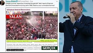 Erdoğan'dan Isparta Mitinginde Büyük Gaf!