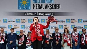 Samsun'da Meral Akşener İzdihamı