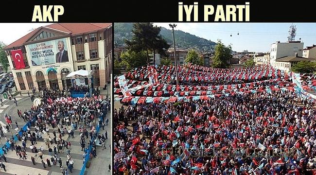 İYİ Parti-AKP Mitingini Karşılaştırdılar