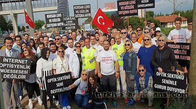Korsan Lense Karşı Ankara'ya Yürüdü