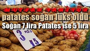 Patates, Soğan Kese Yakıyor! Soğan 7 TL, Patates 5 TL...