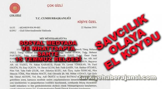 Sosyal Medya'da SAHTE '15 Temmuz' Belgesi
