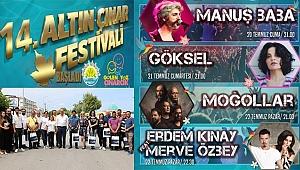 14. Altın Çınar Festivali Başladı