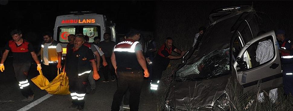 Çorum'da Gece Yarısı Feci Kaza: 2 Ölü, 6 Yaralı