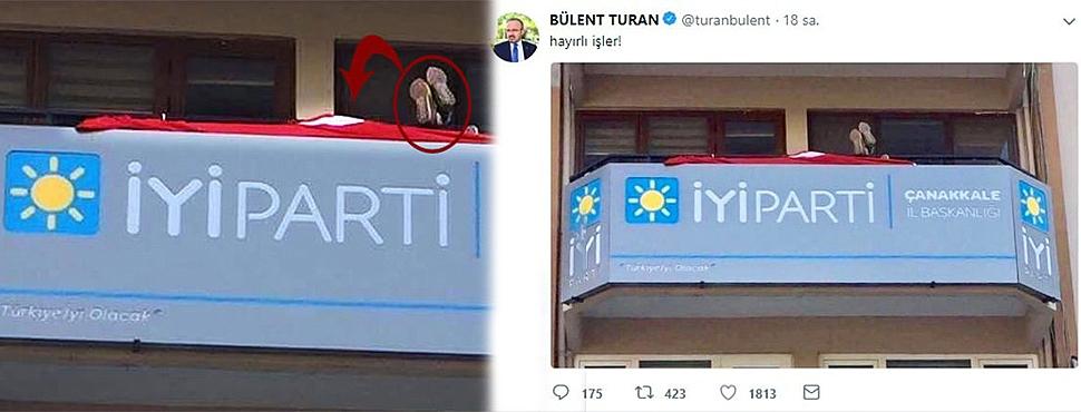 İYİ Parti Çanakkale İl Başkanlığı'ndaki Görüntü Şoke Etti!