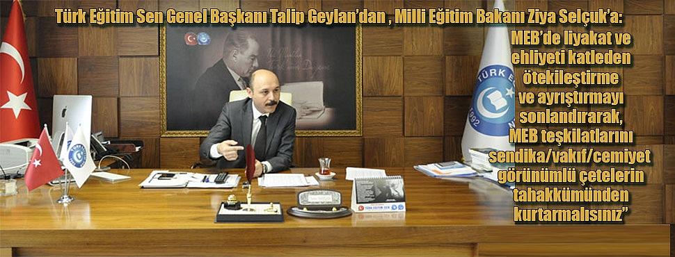 'Türk Eğitim Sen Taahhütlerin Takipçisi Olacaktır.'