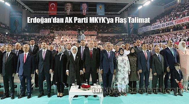 Cumhurbaşkanı Erdoğan'dan Yeni MKYK'ya Flaş Talimat