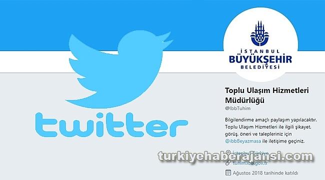 İBB, Twitter ile Sosyal Medyada