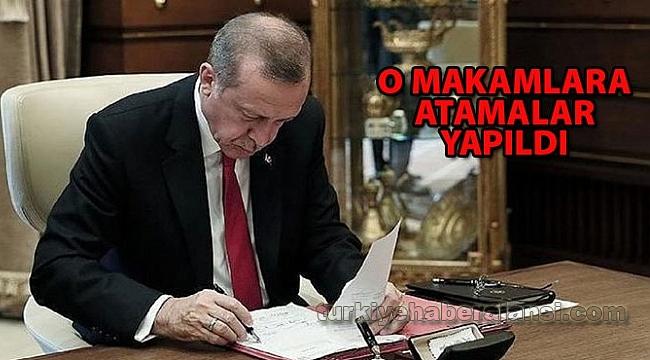Cumhurbaşkanı Kararıyla Yapılan Atamalar Resmi Gazete'de yayımlandı