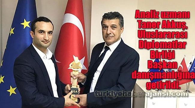 Uluslararası Di̇plomatlar Birliği'nden Taner Akkuş'a Önemli Görev