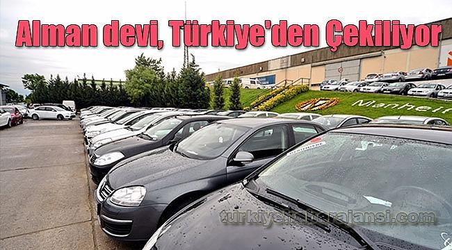 Alman devi, Türkiye'den Çekiliyor