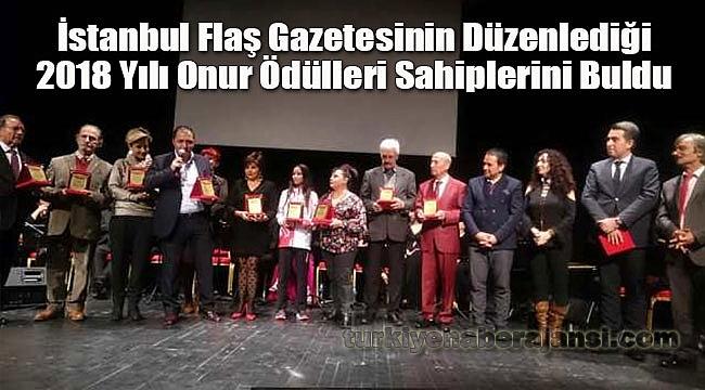 İstanbul Flaş Gazetesi'nden Onur Ödülleri