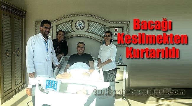 Özel Bower Hastanesi'nde Bacağı Kesilmekten Kurtuldu