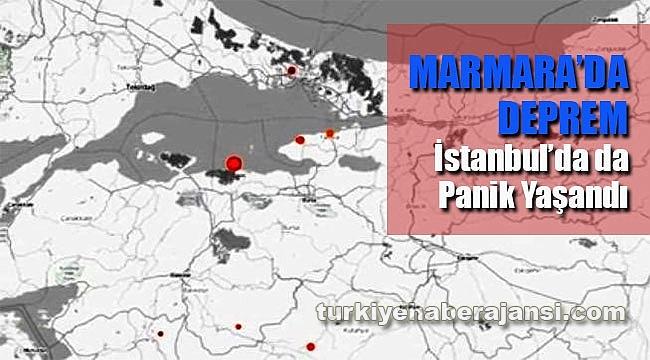 Marmara'da deprem Paniği. İstanbul'da da hissedildi