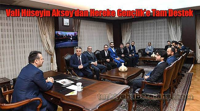 Vali Hüseyin Aksoy'dan Hereke Gençlik'e Tam Destek