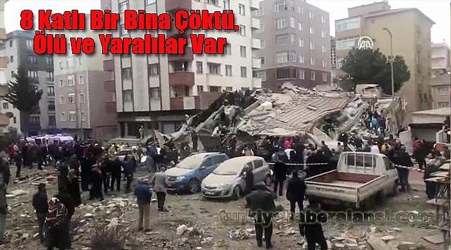 İstanbul Kartal'da 8 Katlı Bir Bina Çöktü.