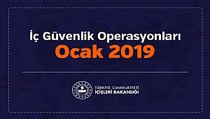 Ocak Ayında 9 bin 463 Operasyon Yapıldı