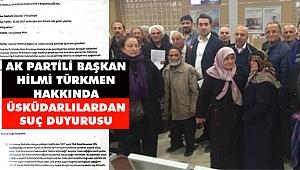 AK Partili Başkan Hakkında Üsküdarlılardan Suç Duyurusu