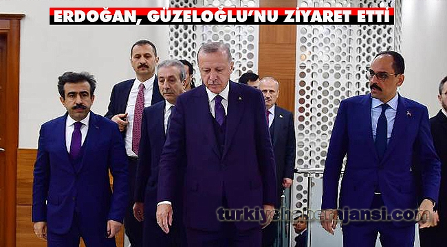 Cumhurbaşkanı Erdoğan, Vali Güzeloğlu'nu Ziyaret Etti