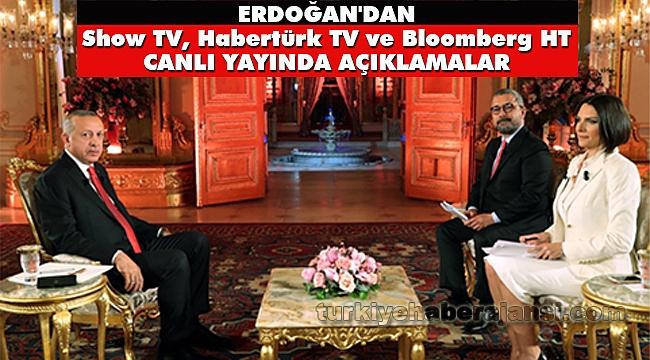 Erdoğan'dan Canlı Yayında Açıklamalar