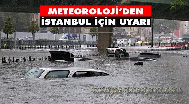 İstanbul İçin Kuvvetli Yağış Uyarısı