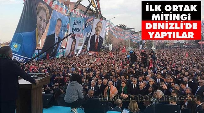 Kılıçdaroğlu ve Akşener İlk Ortak Mitingini Denizli'de Yaptı
