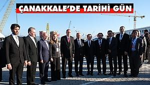Köprünün Şaftının Montajı Erdoğan'ın Katılımıyla Gerçekleştirildi