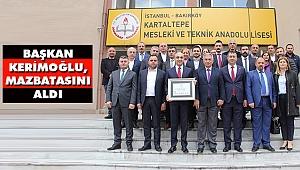 Başkan Kerimoğlu, Mazbatasını Aldı