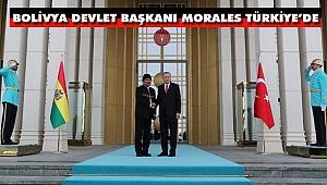 Bolivya Devlet Başkanı Morales Cumhurbaşkanlığı Külliyesinde