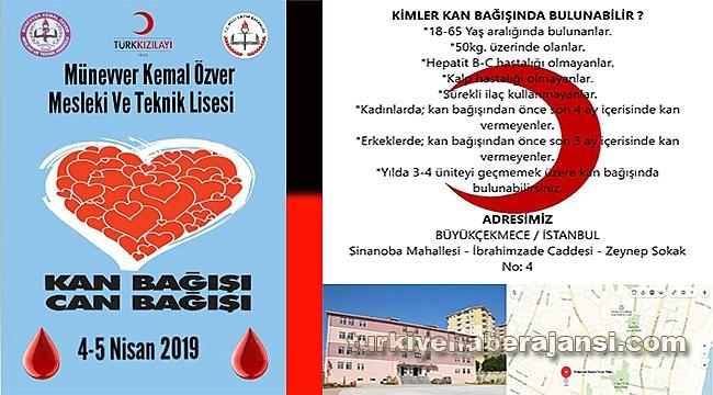 Liselilerden 'Kan Bağışı Can Bağışı'
