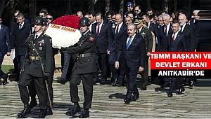 TBMM Başkanı ve Devlet Erkanı Anıtkabir'de